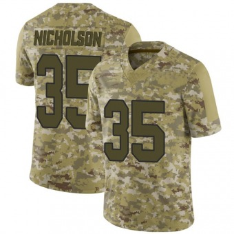 Men's Montae Nicholson Camo Limited 2018 Salute to Service Football Jersey